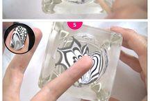 Nail Art - watermarble