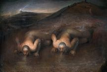 Odd Nerdrum / Odd Nerdrum (born 8 April 1944) is a controversial Norwegian figurative painter whose work is held by museums worldwide. Themes and style in Nerdrum's work reference anecdote and narrative. Primary influences by the painters Rembrandt and Caravaggio help place his work in direct conflict with the abstraction and conceptual art considered acceptable in much of his native Norway.  Nerdrum creates six to eight paintings a year that include: still life paintings of small, everyday objects like bricks, portraits and self-portraits, and large paintings allegorical and apocalyptic in nature. Subjects of Nerdrum's paintings are often dressed as if from another time and place.  Nerdrum says that his art should be understood as kitsch rather than art as such. On Kitsch, a manifesto composed by Nerdrum, describes the distinction he makes between kitsch and art. Nerdrum's philosophy has spawned The Kitsch Movement among his students and followers, who call themselves kitsch painters rather than artists.