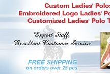 Custom Womens Polo Shirts Embroidered / Custom Embroidered Womens Polos by Nike, Outer Banks, and IZOD; matching men and youth basics and moisture-wicking performance styles also available. http://www.ezcorporateclothing.com/pages/custom-womens-polos