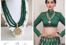 Classic Green Kundan Collection / Get the Classic Green Kundan look at Nims Boutique...   https://nimsboutique.com
