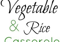 Veggie based recipes