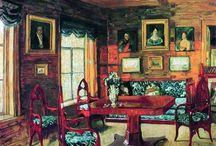Русские усадьбы и интерьеры в живописи
