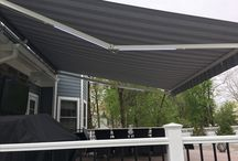 Retractable Awning for your Deck with LED Lights