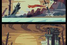 Пиксель город