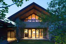 三角屋根の家