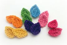 Crocheted Flowers & Leaves / Instructions, inspiration and ideas for crocheted flowers and leaves.