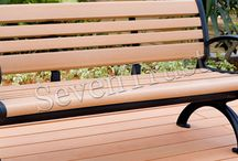 OUTDOOR BENCH / Elegant nature wood grain texture and touch, with wood scent.Elegant and detailed shape design.Resistant to cracking and splitting.Anti-water and moisture, acid, alkali and pest resistance.