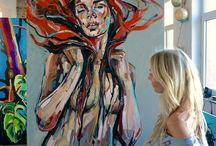 "ArtAffair Galerie / STUDIO/ the preparations ArtAffair Galerie ""JOURNEYS"" Vernissage 24.September www.art-affair.net www.annabocek.com"