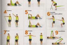 ejercicio con gomas