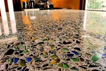concreto com vidro