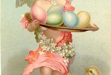 retro velikonoce-pohledy