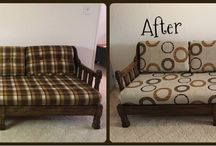 Before and After / Check out some Before and After photos sent by our customers. If you want to give your home a fresh look try our furniture slipcovers.