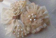faixa flor laço bordado