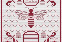 Embroidery - Bees