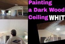 How to Paint a Wood Ceiling