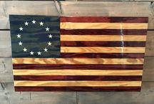 Heritage Series - Handmade Wood Flags