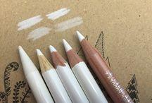 witte kleurpotloden voor verschillende doeleinden