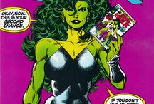 The Sensational SHE-HULK / The She-Hulk series was started off by John Byrne.  It was funny, smart and irreverent.  Sadly, Byrne left the series but returned before it was ended.  These are the issues in my collection.