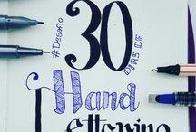 30 dias de Hand Lettering / Desafio proposto por Aline Albino criar 30 artes no mês de dezembro para treinar as técnicas.