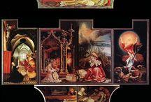 Altertavler påske / 3.a ska høre påskens historie, og derefter vælge tre historier som de vil have på deres egen altertavle, som de skal lave, med collage, oliekridt og ecoline.