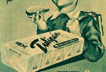 Carteles publicidad vintage / Una colección de imágenes de publicidad vintage