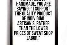 'buy handmade' quotes