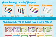 Dental Product Promotions / Monthly promotion flyers and current deal updates for various dental products.