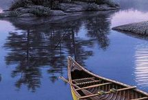 Transport / Canoes, bicycles, trains, old cars, boats
