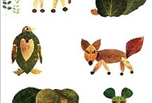animaux en feuilles
