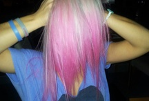 pink,blue,green purple hair!!! crazy color!!!! love my hair <3