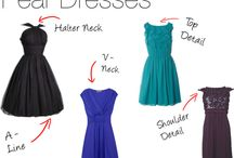 Pear shape dress