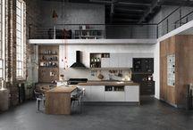Cuisine Harmonie Loft / Découvrez le modèle Harmonie chez Arthur Bonnet en mélaminé et stratifié aménagé dans un vaste espace à vivre à l'esprit industriel. Une composition contemporaine empreinte d'authenticité dans un style loft très tendance cette saison.