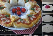 ghirlanda di pizza con pasta fa fare