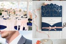 Navy and Blush