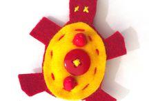 Le Tartarughe / Simpatiche spille colorate da applicare dove più ti piace