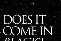 Black...only black ⚫️