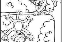 Barnefargelegging / Diverse motiver å fargelegge for barn