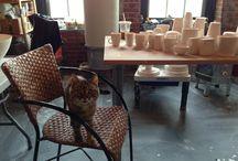 Luna! / My favorite studio helper and her antics.