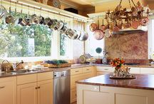 Home ~ Kitchen Inspiration / Occasionally I am forced to cook.  This is where it happens in the kitchen