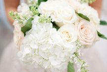 Hydrangeas + Roses Bouquets and Centerpieces / A beautiful mix of hydrangeas + roses to use for your bridal bouquets, bridesmaids bouquets and centerpieces.