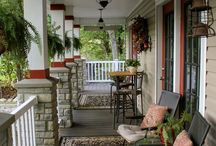 Front Porch Decorating Ideas / Creating a welcoming, relaxing front entry to your home.