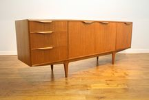 Vintage British teak sideboards