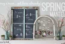 mantle decor ideas / by Allison {A Glimpse Inside}