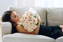 lady & flowers