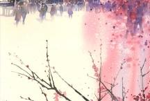 Cseresznyevirág a tónál