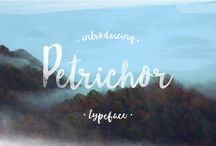 hand-painted brush font