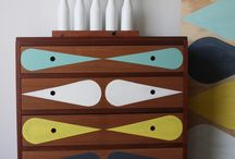 Upcycled mid century drawers