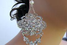 Bridal chandelier earrings, jewelry