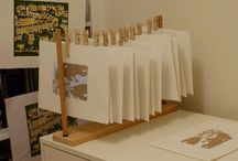 Art Studio / Ideas for art and textile studio set up and solutions