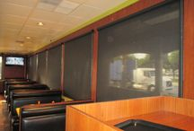 Commerical Roller Shades / Commercial Roller Shades of Southern California by CHI Products. Indoor Roller Shades are the most common shade application installed within a commercial building. They are reasonable priced and withstand constant abuse from clients.